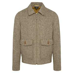 Beige Bracken Donegal Tweed Fauconberg Bomber