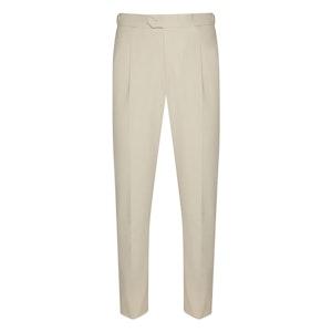 White Heavy Cotton Trousers