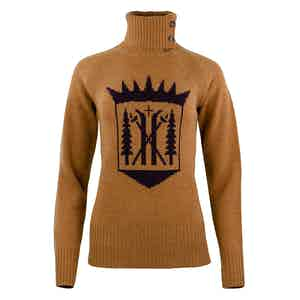 Cathay Spice Merino-Cashmere Monarch Roll Neck Sweater