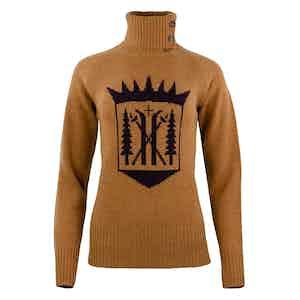 Cathay Spice Merino-Cashmere Monarch Roll Neck Sweater