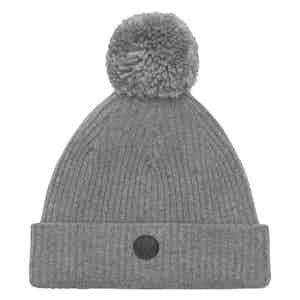 Grey Cashmere-Merino Classic Pom Hat