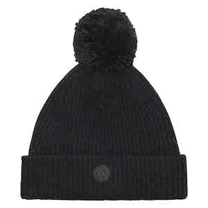 Charcoal Cashmere-Merino Classic Pom Hat