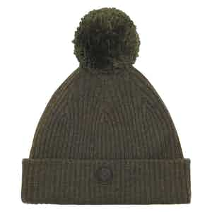 Hunter Green Cashmere-Merino Classic Pom Hat