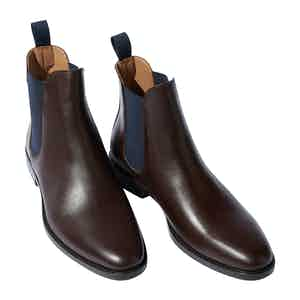 Dark Brown Calf Leather Giacomo Chelsea Boots