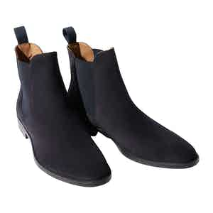 Blue Suede Leather Giacomo Chelsea Boots