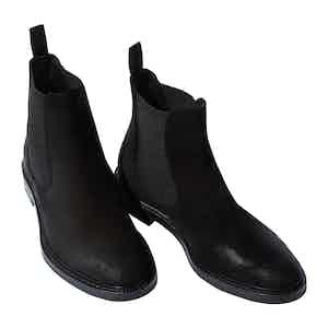 Black Suede Hunter Chelsea Boots
