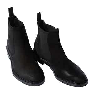 Black Suede Hunter Chelsea Boots