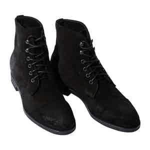 Black Suede Paolo Boots