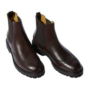 Brown Calf Leather Keith Chelsea Boots