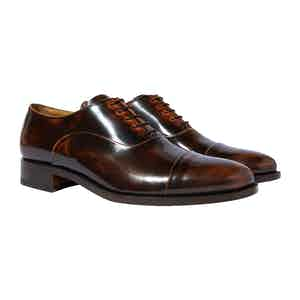 Brown Calfskin Lorenzo Oxfords