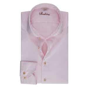 Light Pink Cotton Slim Shirt