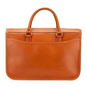 Tan Bridle Leather Small Marston Briefcase