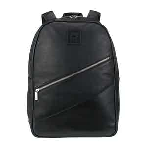 Black Leather Clifton Backpack