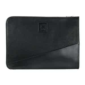 Black Elba Leather iFolio Leather Tablet and Document Case