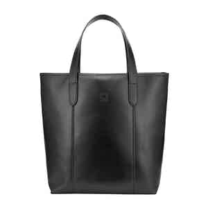Black Leather Chelsea Simple Eco-Tote Bag