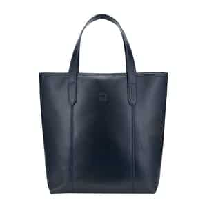 Navy Leather Chelsea Simple Eco-Tote Bag