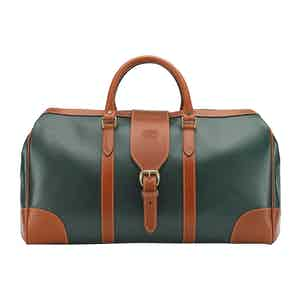Green Leather Chellington Heritage Holdall