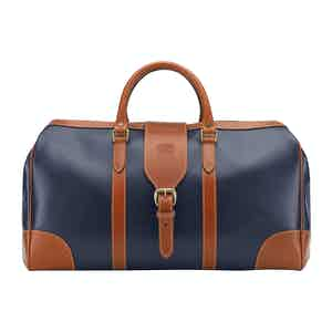 Navy Leather Chellington Heritage Holdall