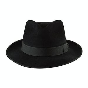 Black Fur Felt Alfred Trilby Hat
