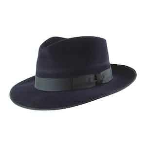Navy Fur Felt Alfred Trilby Hat