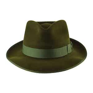Green Fur Felt Alfred Trilby Hat