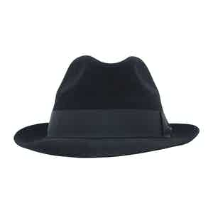 Black Fur Felt Sinatra Trilby