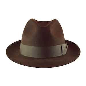 Brown Fur Felt Sinatra Trilby