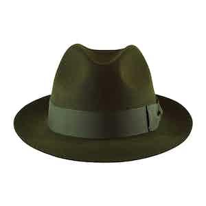 Green Fur Felt Sinatra Trilby