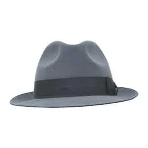 Grey Fur Felt Sinatra Trilby