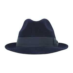 Navy Fur Felt Sinatra Trilby Hat
