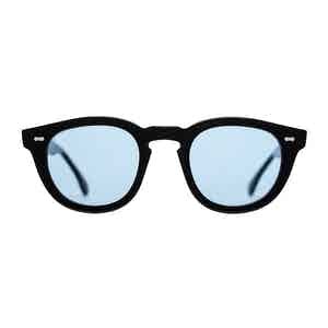 Black-Blue Donegal Acetate Sunglasses