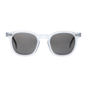 Transparent and Gradient Grey Twill Matte Sunglasses