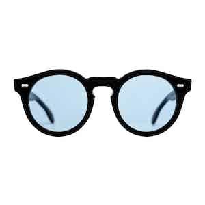 Black Acetate and Blue Blazer Matte Sunglasses