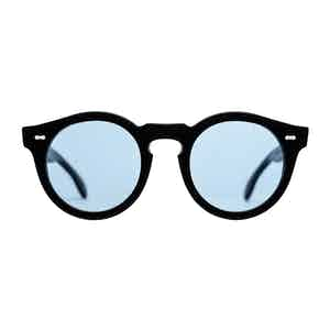 Black Acetate and Blue Blazer Matte Sunglasses