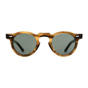 Earth Brown Bio-Acetate and Bottle Green Sunglasses