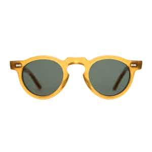 Honey and Bottle Green Welt Sunglasses