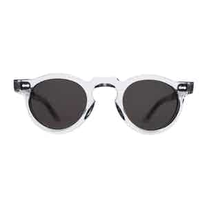 Transparent and Gradient Grey Welt Sunglasses