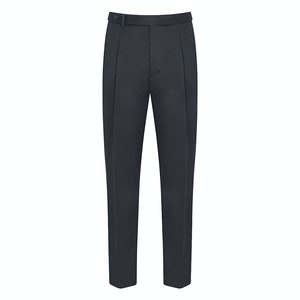 Dark Navy Cotton Twill Trousers