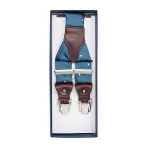 Dust Blue Spotted Silk Jacquard Braces