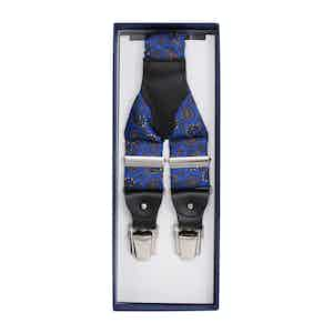 Royal Blue and Prosecco Silk Braces
