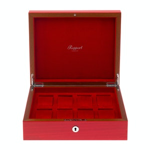 Red Lacquered Wood Heritage Watch Box