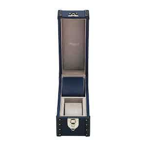 Navy Blue Leather Two-Watch Kensington Box