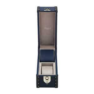 Navy Blue Leather Two-Watch Kensington Box