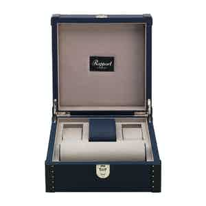 Navy Blue Leather Six-Watch Kensington Box