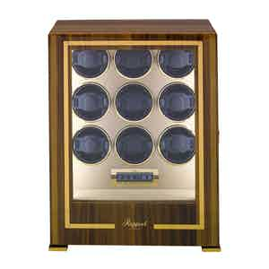 Brown Walnut 9-Watch Paramount Winder