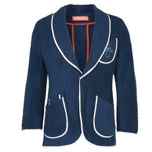 Navy Towelling Cotton Angel Blazer
