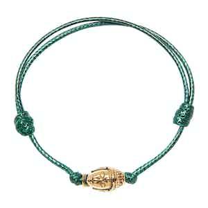 Dark Green String Bracelet with Gold Buddha