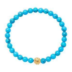 Turquoise and Gold Wristband