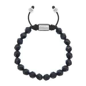 Faceted Matte Onyx Squared Bead Wristband