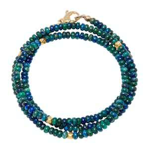 Azurite and Gold Mykonos Collection Wrap-Around Bracelet